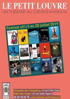 Brochure du théâtre pour le Festival d'Avignon